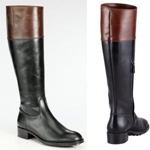 Tods Biocolor Knee High Riding Boots Womens Sz 36